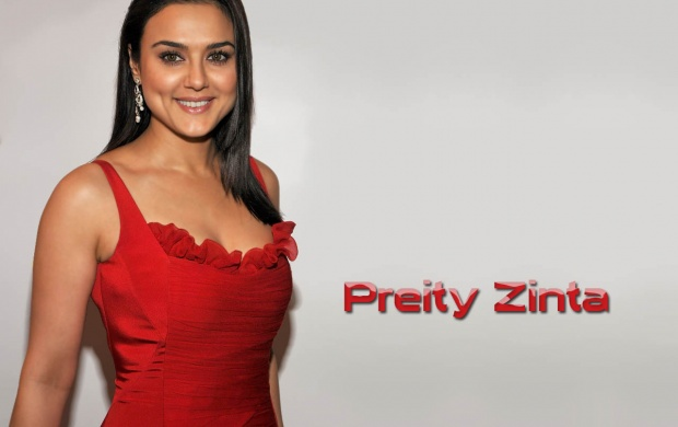 Preity Zinta In Red Dress (click to view)