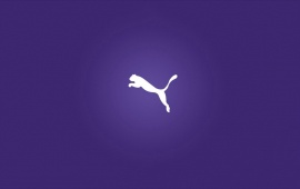 Puma Logo Purple Background