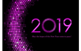 Purple Happy New Year 2019