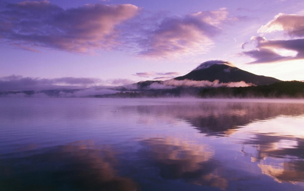 Purple Sunrise over a Lake (click to view)