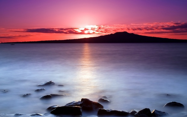 Purple Sunset Above the Water (click to view)