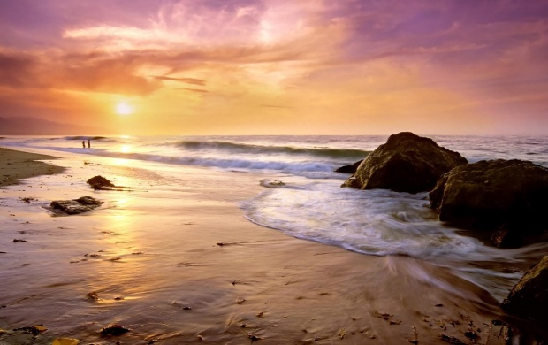 Purple Sunset on the Beach (click to view)