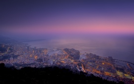 Purple Sunset over Monaco