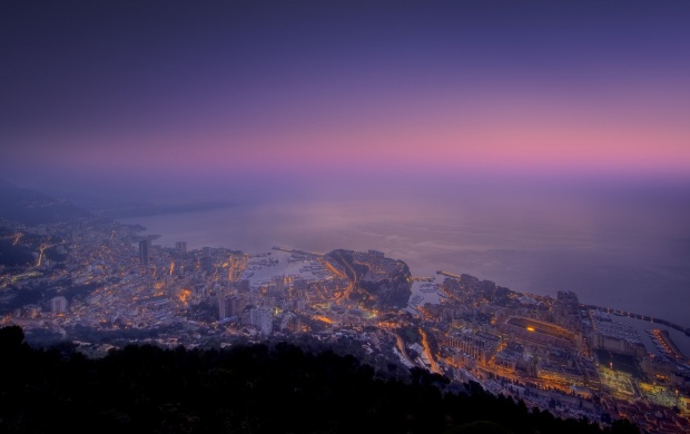 Purple Sunset over Monaco (click to view)