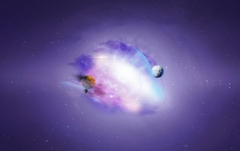Purple Universe Galaxy