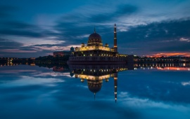 Putra Mosque Malaysia At Evening