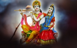 Radha Krishna Romantic Poses