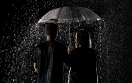 Rain Umbrella Couple