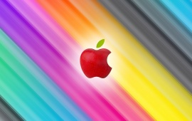 Rainbow Apple Background