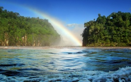 Rainbow Over a River