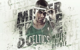 Rajon Rondo White Background