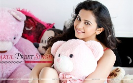 Rakul Preet Singh With Teddy Bear