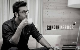 Ranbir Kapoor Drinking Coffee