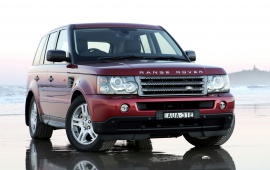 Range Rover Dark Red