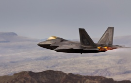 Raptor F-22 Sky At Mountains