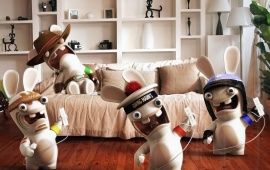 Rayman Raving Rabbids Playing Wii