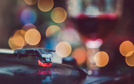 Record Player Bokeh