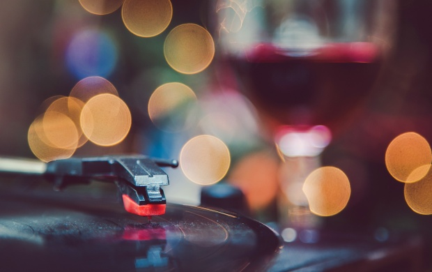 Record Player Bokeh (click to view)
