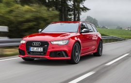Red Audi RS6 Avant 2013