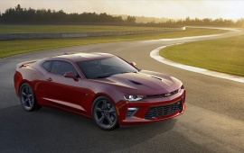 Red Chevrolet Camaro SS 2016