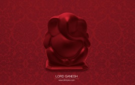 Red Color Lord Ganesha