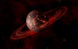 Red Cosmos Planet
