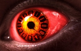 Red Eye Clock