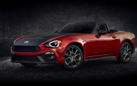 Red Fiat 124 Spider Abarth 2017