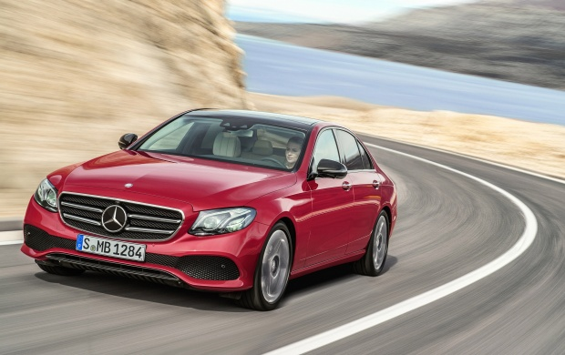red mercedes benz e class 2017 wallpapers