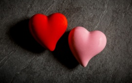Red Pink Hearts Couple
