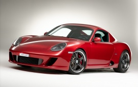 Red Porsche Cayman RK Coupe 2013