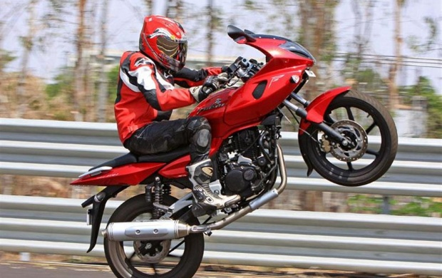 Red Pulsar 220 Bike (click to view)