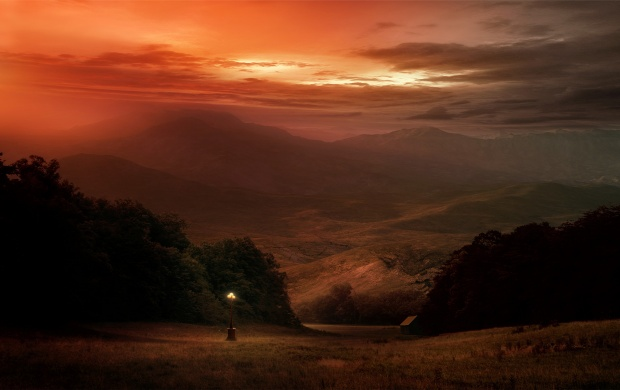 Red Sky Mountain Sunset (click to view)
