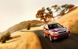 Red Subaru Forester 2016