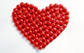 Red Sweet Candies Heart