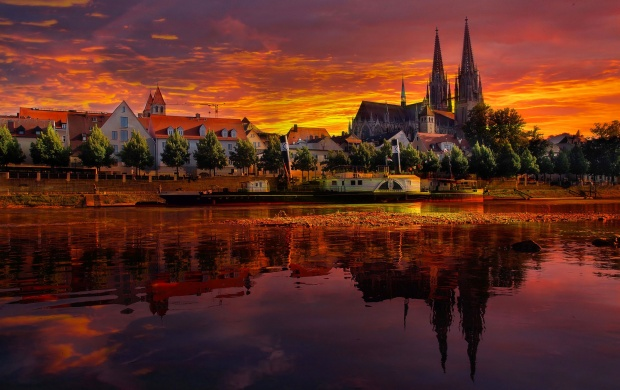Regensburg Germany Sunset (click to view)