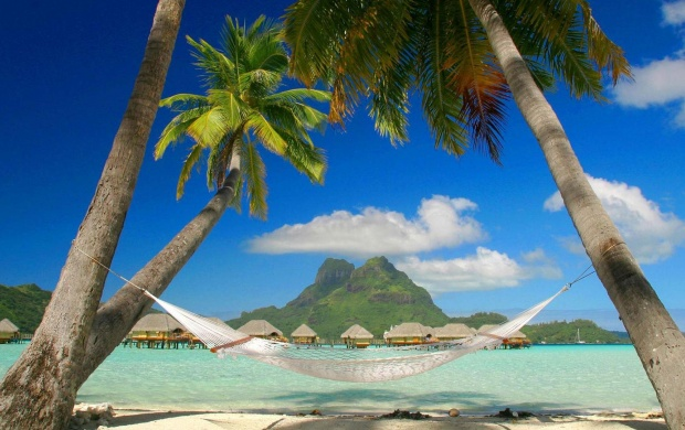 Relax on Hammock in Bora Bora (click to view)