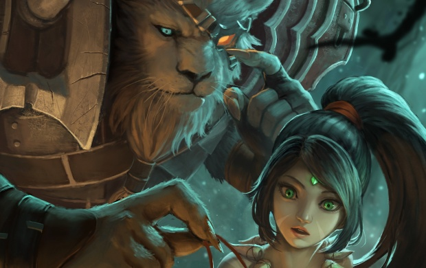 Rengar And Nidalee League Of Legends (click to view)