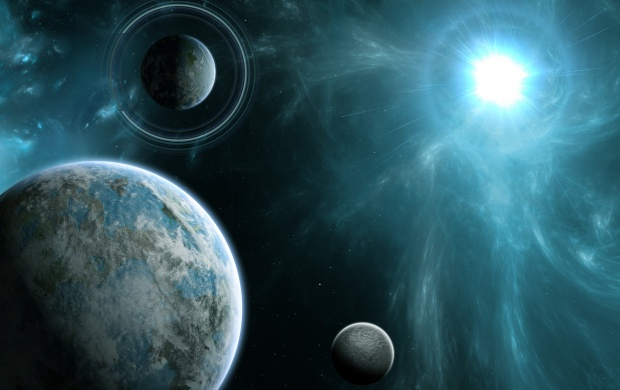 Ring Planets And Energy Star (click to view)