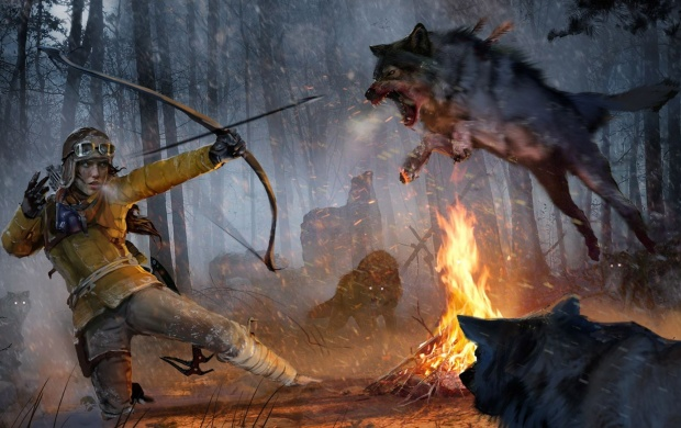Rise Of The Tomb Raider Wolf Attack (click to view)