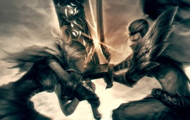 Riven Vs Yasuo Sword Fight League Of Legends