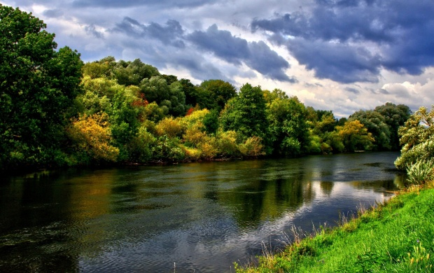 River And Green Trees (click to view)