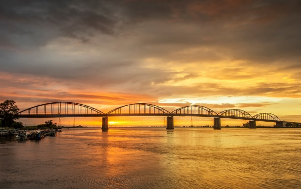 River Bridge At Sunset (click to view)