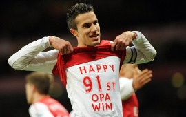 Robin Van Persie Happy Mood
