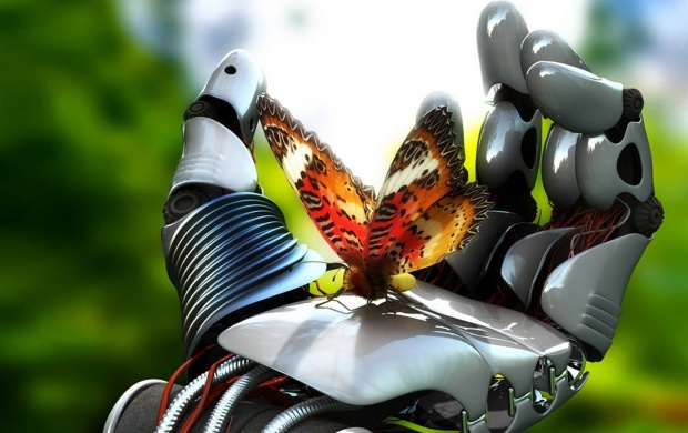 Robot Hand Butterfly (click to view)