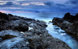 Rocky Shores in Blue
