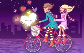 Romantic Bike Lovers