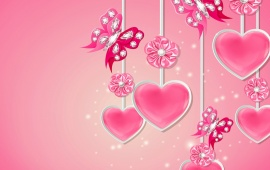 Romantic Heart And Butterfly