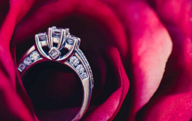 Rose In Wedding Ring Click To View
