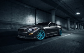 Roush Mustang On Vossen Wheels
